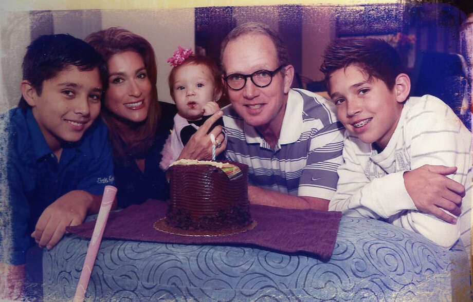 KENS-TV anchor Sarah Lucero, husband John Calhoon and their three children, son Stetson (left), daughter Seve and son Satchel, will see their family grow later this year. Photo: Courtesy Yvonne Robles