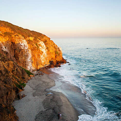 Secluded sands, Malibu Like Zuma Beach, its famous neighbor just to the north, Westward Beach has ample parking and powerful waves. But bordered by sandstone bluffs instead of PCH's pavement, it feels more unspoiled. The headland of Point Dume forms the beach's southern boundary, and if you want even more privacy, hike up and over the point, then down a staircase to secluded Dume Cove. Westward Beach Rd., off Pacific Coast Hwy.   Photo: Thomas J. Story, Sunset.com / ©Thomas J. Story/Sunset Publishing