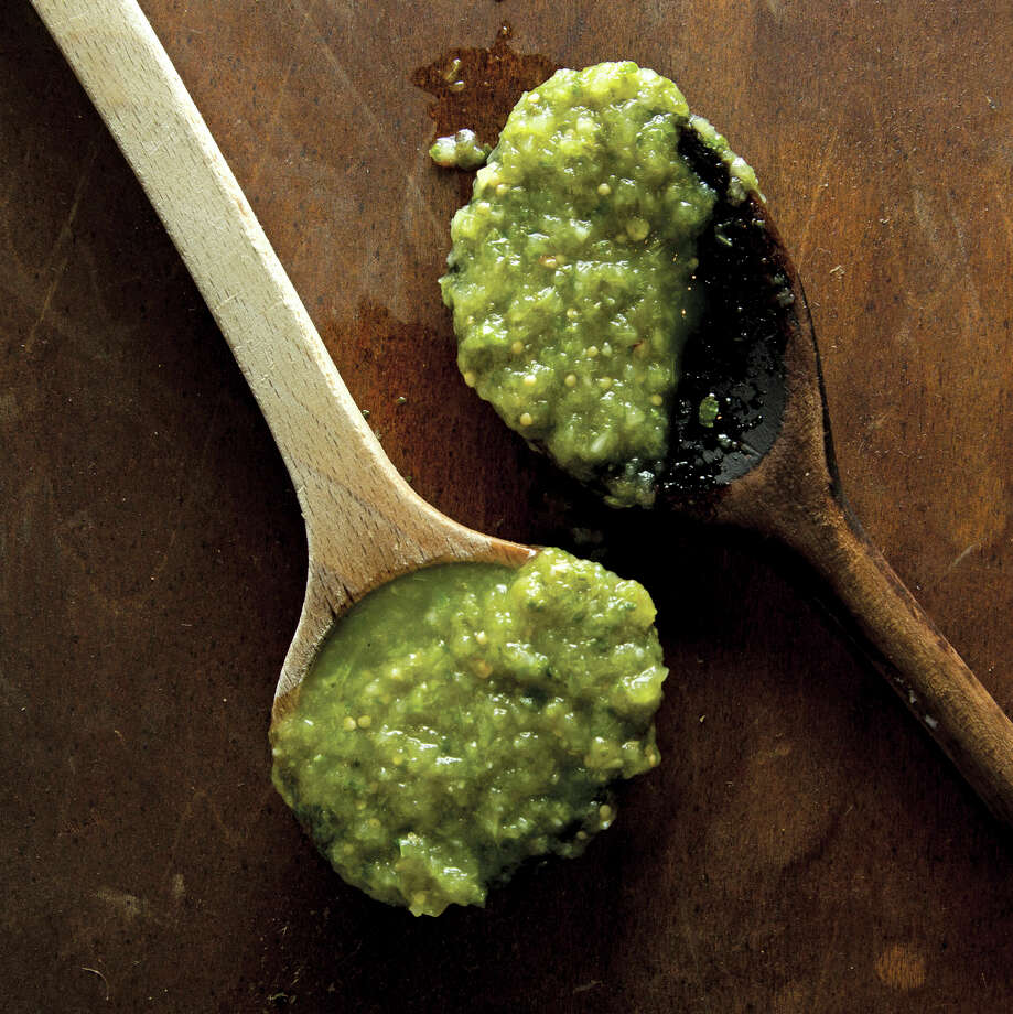 """""""Son of Suchilquitongo"""" Salsa Verde from """"The Hot Sauce Cookbook"""" by Robb Walsh Photo: Ten Speed Press"""