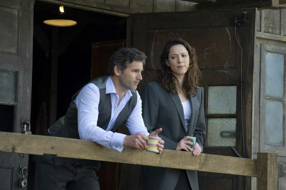 As lawyers in a British terrorism case, Eric Bana and Rebecca Hall become targets. Photo: Focus Features