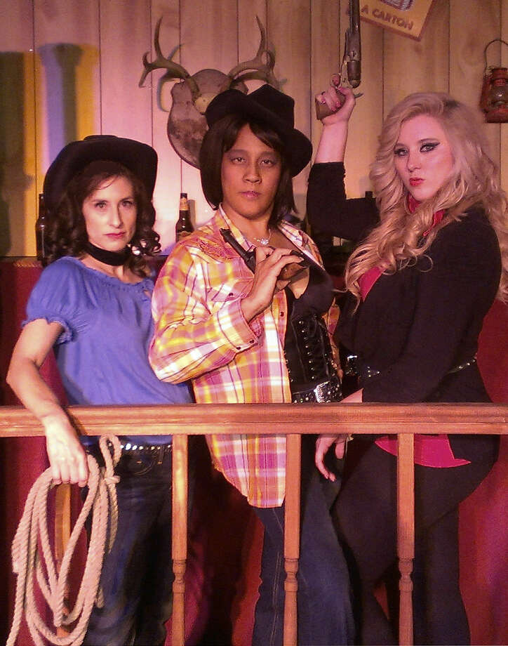 """Wanted Dead or Alive: Outlaws of Country Music"" features Stephanie Van De Walle (from left), LiGaya and Kylee Skye Lynn. Photo: Courtesy Carmack Performing Arts"