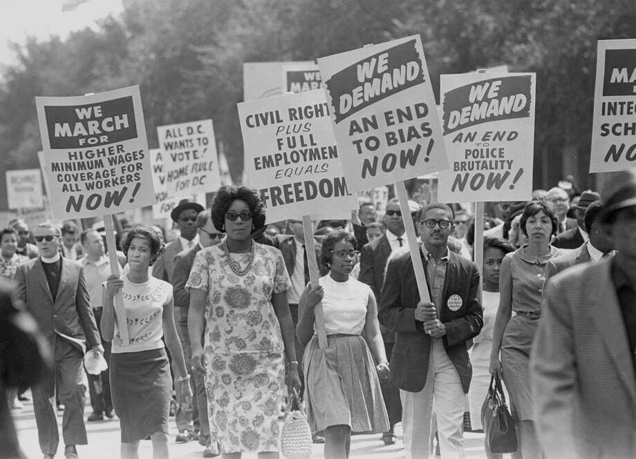 About 250,000 people peacefully demonstrated on Aug. 28, 1963, in the March on Washington for Jobs and Freedom. Photo: CARL T. GOSSETT JR., STF / NYTNS