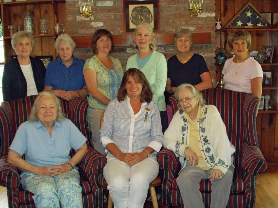 Members of the Board of Darien's Good Wife's River Chapter DAR met to finalize plans for the coming year. Back row from left, Counselor Barbara Sinnott; Counselor Merion Frolich; Second Vice Regent Katherine Love; Corresponding Secretary Vigee Droesch; Vice Regent Winifred Lom; and Registrar Karen K. Polett. Front row from left, Recording Secretary Harriette Thorne; Regent Lisa Wilson Grant; and Chaplain Diana Reddington. Photo: Contributed Photo