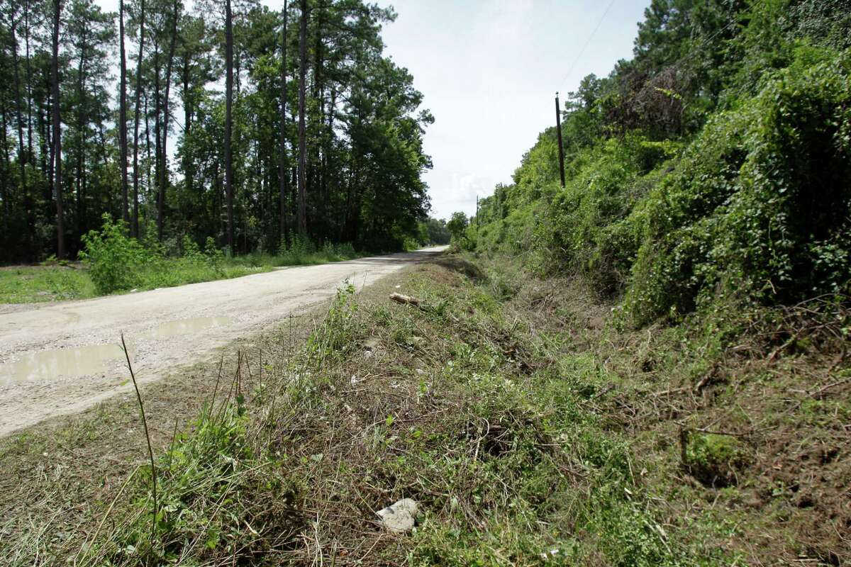 Harris County crews have begun cutting back vegetation along Palm Drive, a first step toward drainage repairs that resident Charles Hixon has pushed for years.