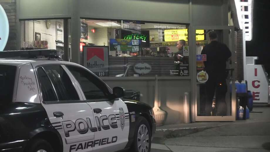 Town police are looking for a man who robbed a Stratfield Road gas station after claiming he had a gun Tuesday night. Photo: Steve Krauchick / Connecticut Post contributed