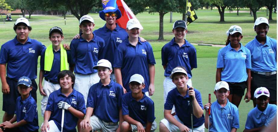 Lake Windcrest's junior golf team that will play in a national event in Georgia in September includes, top row left to right, volunteer Austin Shaw, Karl Haas, Ben Roeder, coach Roger Stebbins, Kenlie Barrett, Tanner Davis; front row, Alex Papayano, Aaron Shaw, Tristan Hawkins, Darrian Allizadah, Brayden Inglebertson. Photo: Handout