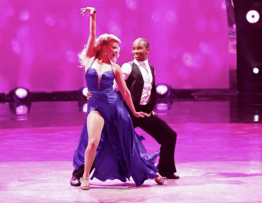 "SO YOU THINK YOU CAN DANCE: L-R: All-star dancer Witney Carson and top 6 contestant Fik-Shun perform a Foxtrot to ""Sexy Silk"" choreographed by Jonathan Roberts on SO YOU THINK YOU CAN DANCE airing Tuesday, August 27 (8:00-10:00 PM ET/PT) on FOX. ©2013 FOX Broadcasting Co. Cr: Adam Rose / 1"