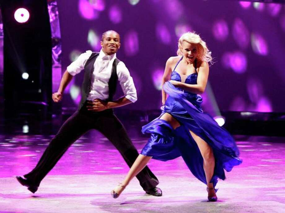 """SO YOU THINK YOU CAN DANCE: L-R: Top 6 contestant Fik-Shun and all-star dancer Witney Carson perform a Foxtrot to """"Sexy Silk"""" choreographed by Jonathan Roberts on SO YOU THINK YOU CAN DANCE airing Tuesday, August 27 (8:00-10:00 PM ET/PT) on FOX. ©2013 FOX Broadcasting Co. Cr: Adam Rose / 1"""