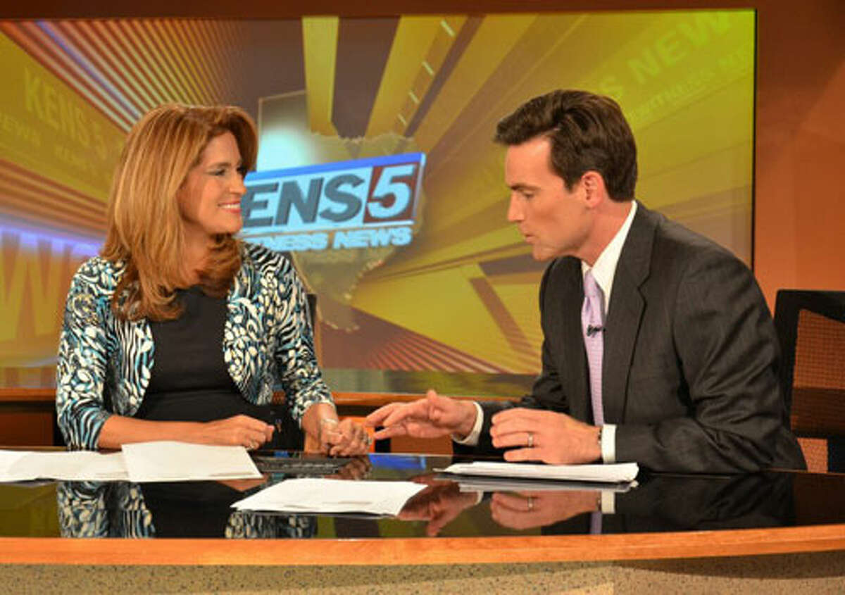 KENS-TV's Sarah Lucero soon will catch up to Jeff Goldblatt in terms of their children count.