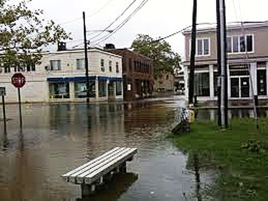 Westport scenes during Tropical Storm Irene, which hit town two years ago on Aug. 28, 2011. Photo: File Photo / Westport News