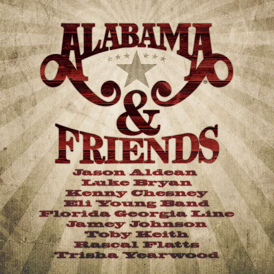"This CD cover image released by 10 Spot shows ""Alabama & Friends,"" a new release by the band Alabama. (AP Photo/10 Spot) ORG XMIT: NYET869 / 10 SPOT"