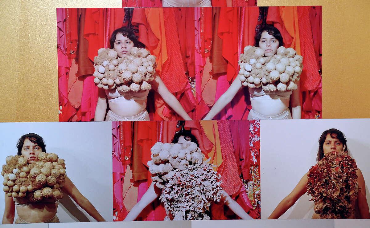 Detail of Mas Rudas member Sarah Castillo's