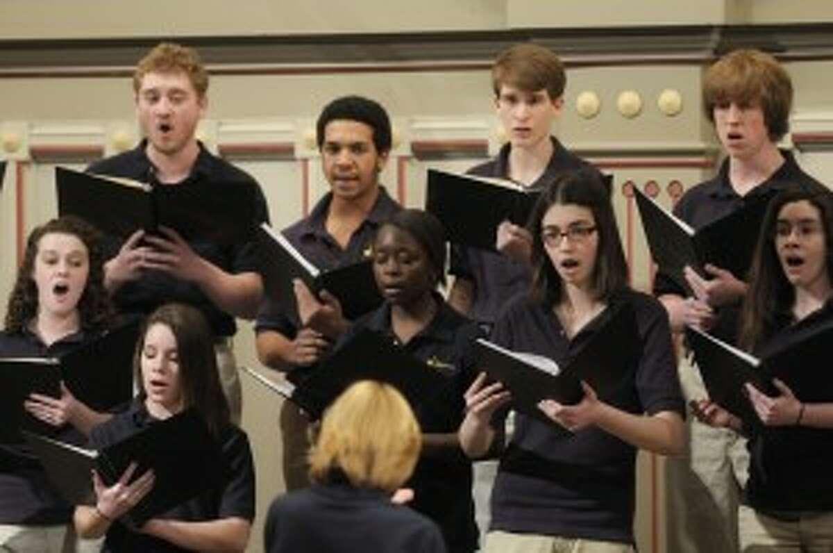 Members of the Guilderland High School Chamber Choir (Paul Buckowski / Times Union)