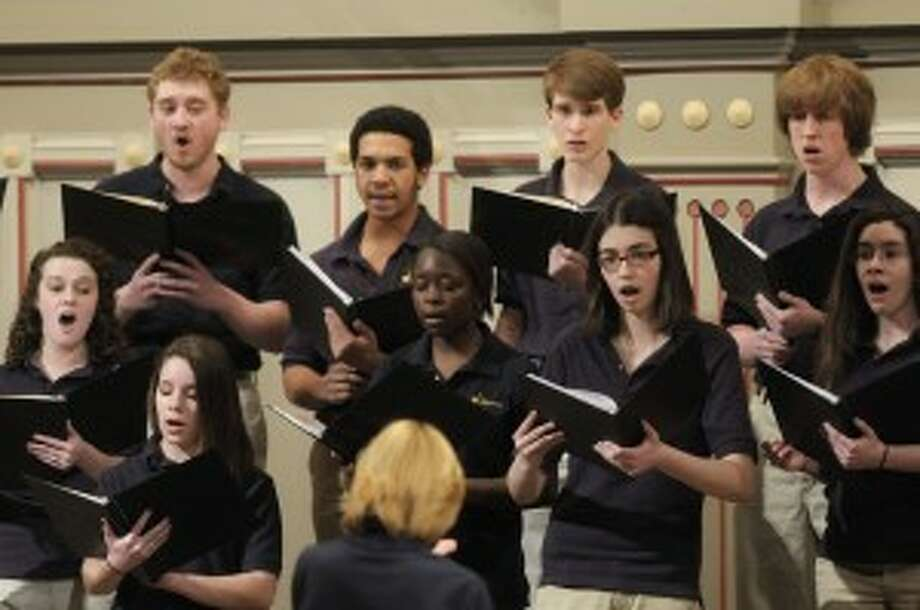 Members of the Guilderland High School Chamber Choir (Paul Buckowski / Times Union)