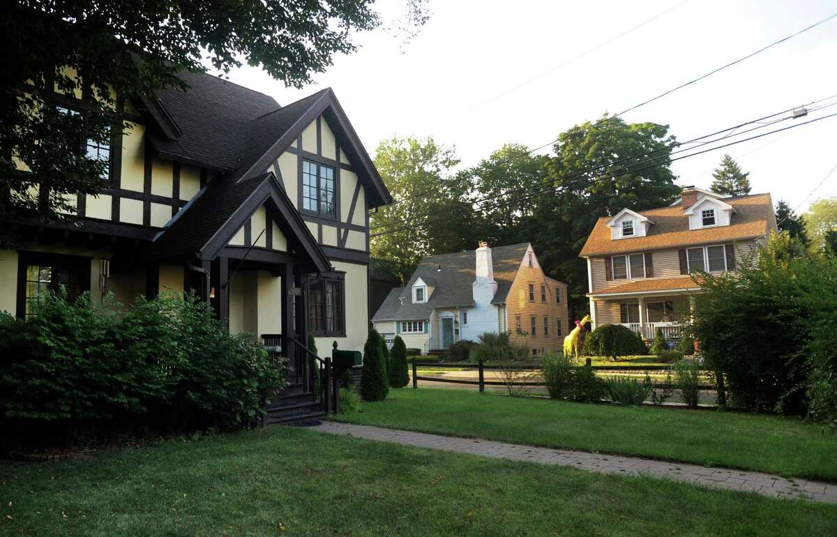 Houses in the Glenbrook section of Stamford, Conn. on Tuesday Aug. 27, 2013