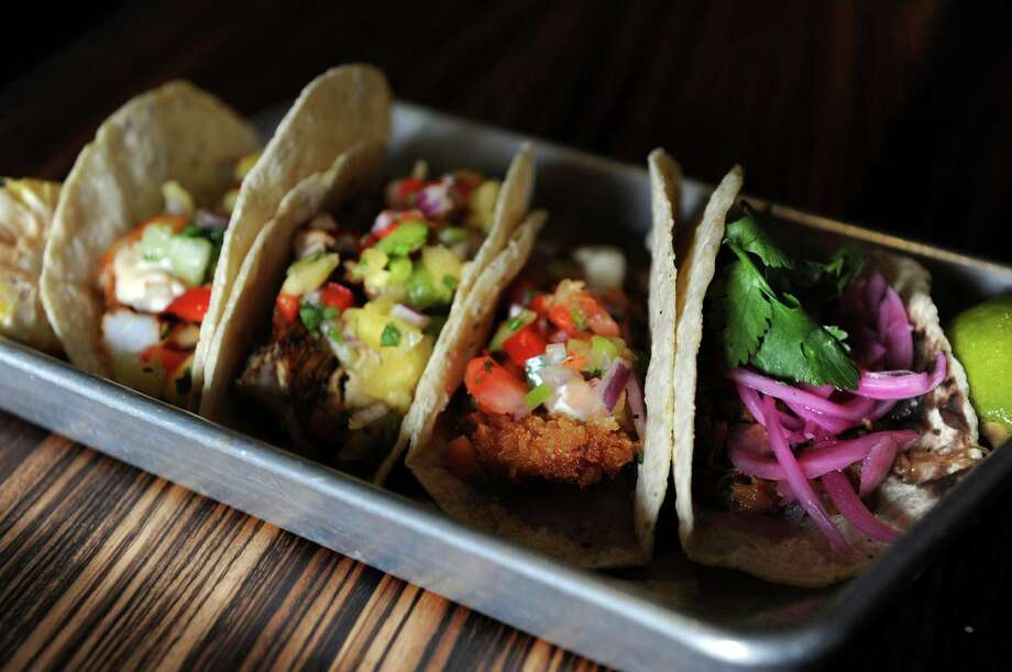 A variety of tacos are offered at Bodega Taco Bar in Heritage Square at 1700 Post Road in Fairfield. Photo: File Photo / Fairfield Citizen