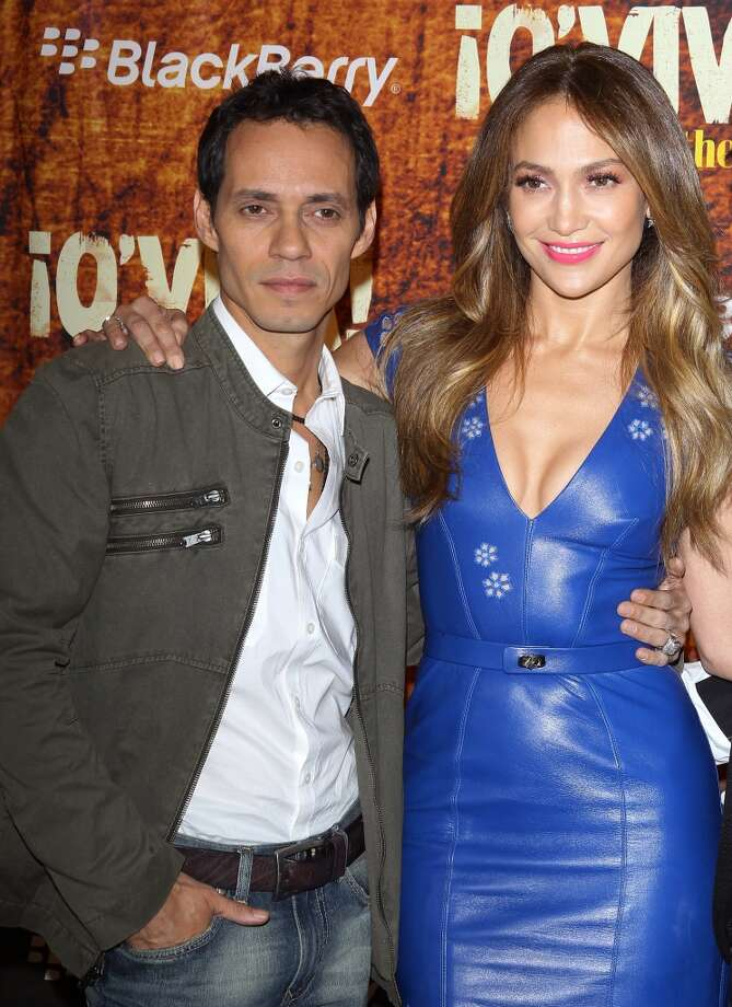 Marc Anthony and Jennifer Lopez. Photo: Michael Tran, FilmMagic