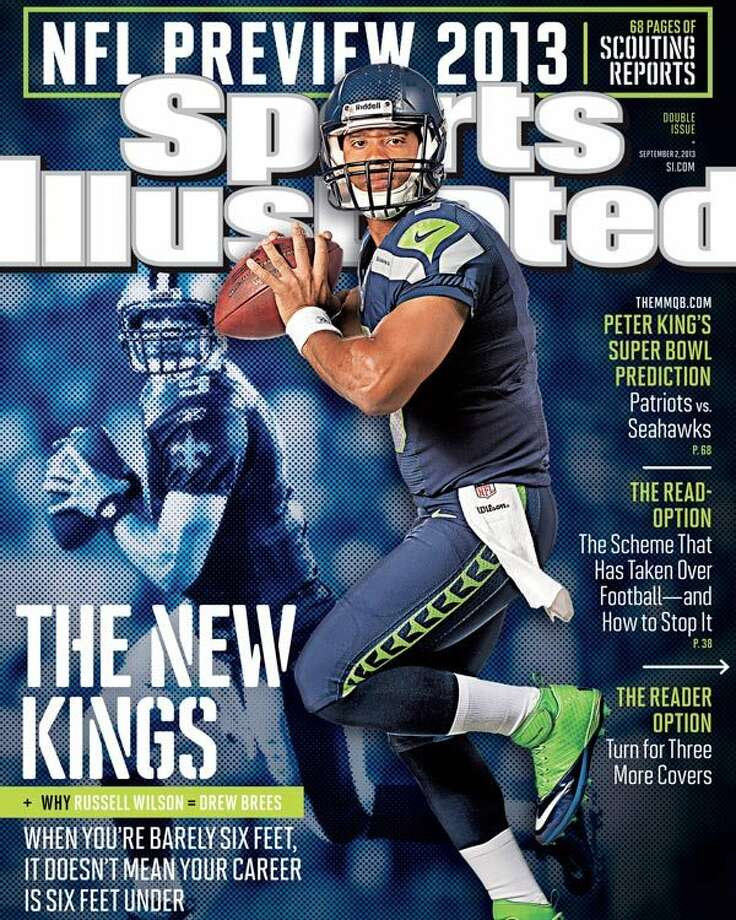 Russell Wilson was featured on one of four regional covers for the Sept. 2 ''NFL preview'' issue of Sports Illustrated. The three other covers featured San Francisco's Colin Kaepernick, Washington's Robert Griffin III and Indianapolis' Andrew Luck. Photo: Promotional Image, Sports Illustrated