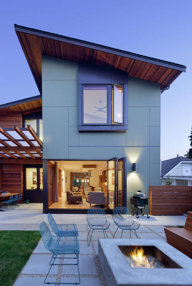 Construction of 124 N.W. 59th St., in Seattle, had already begun when the owners hired Coates Design Architects to design the interior and add exterior detailing. Photo: Lara Swimmer / (c) Lara Swimmer ALL RIGHTS RESERVED