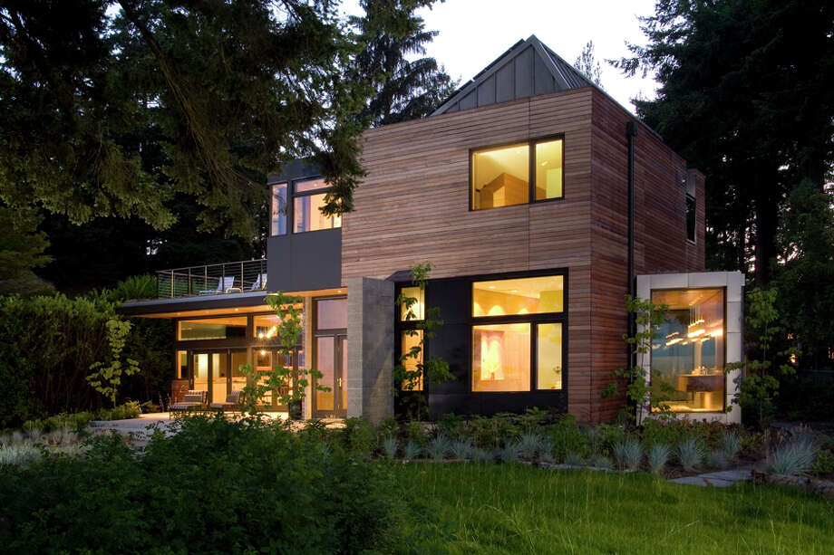 "The Ellis Residence, 7268 Madrona Drive, on Bainbridge Island, by Coates Design Architects has top-level Platinum certification through the U.S. Green Building Council's Leadership in Energy and Environmental Design program and ""serves as a model and educational tool for future sustainable residential projects,"" according to a home tour news release. Photo: Roger Turk, Northlight Photography"