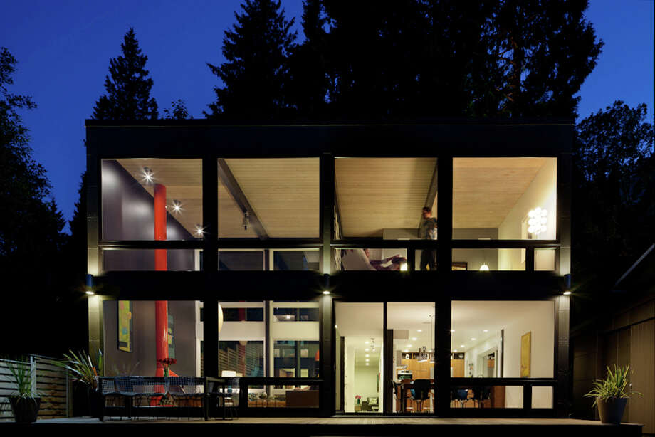"This home, 18184 S.E. 41st Place, in Issaquah, was built in 1963 and ""was rescued from entropy and rebuilt as a better version of its former self,"" in 2011 by Schemata Workshop, according to a project writeup. Photo: Lara Swimmer / (c) Lara Swimmer ALL RIGHTS RESERVED"
