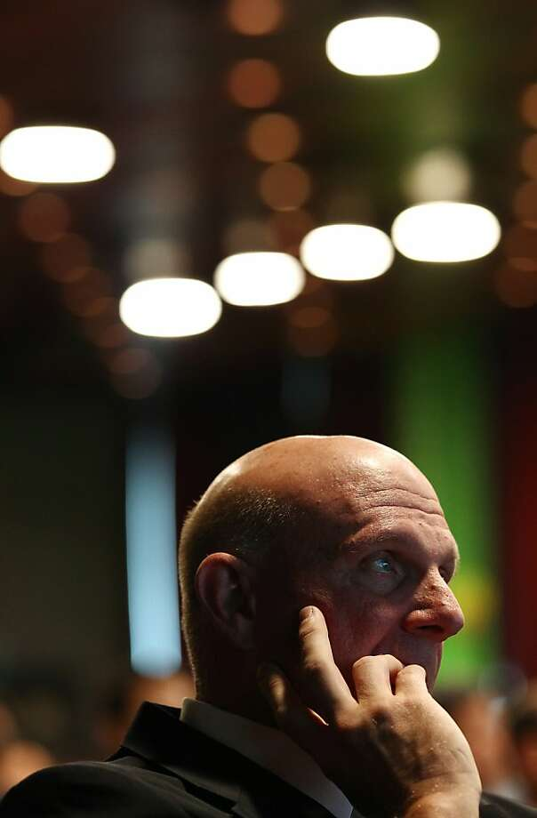 Steve Ballmer, chief executive officer of Microsoft Corp., attends the Seoul Digital Forum in May. Photo: SeongJoon Cho, Bloomberg