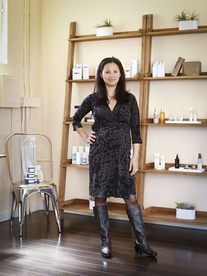 Ayla Beauty founder Dara Kennedy hosts S5 Skincare founder Laura Rudoe at the San Francisco headquarters August 29. Photo: Russell Yip, The Chronicle