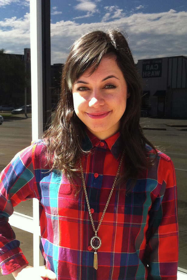 Artist Emily Link works as community relations coordinator for the Lawndale Art Center. Photo: Contributed