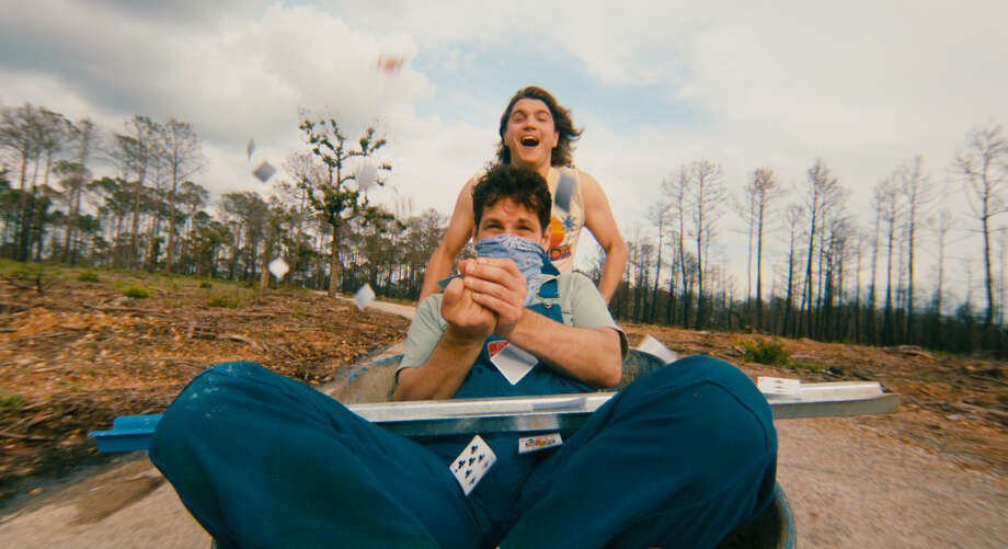 Emile Hirsch and Paul Rudd in PRINCE AVALANCHE, a Magnolia Pictures release. Photo courtesy of Magnolia Pictures. Photo: Magnolia Pictures