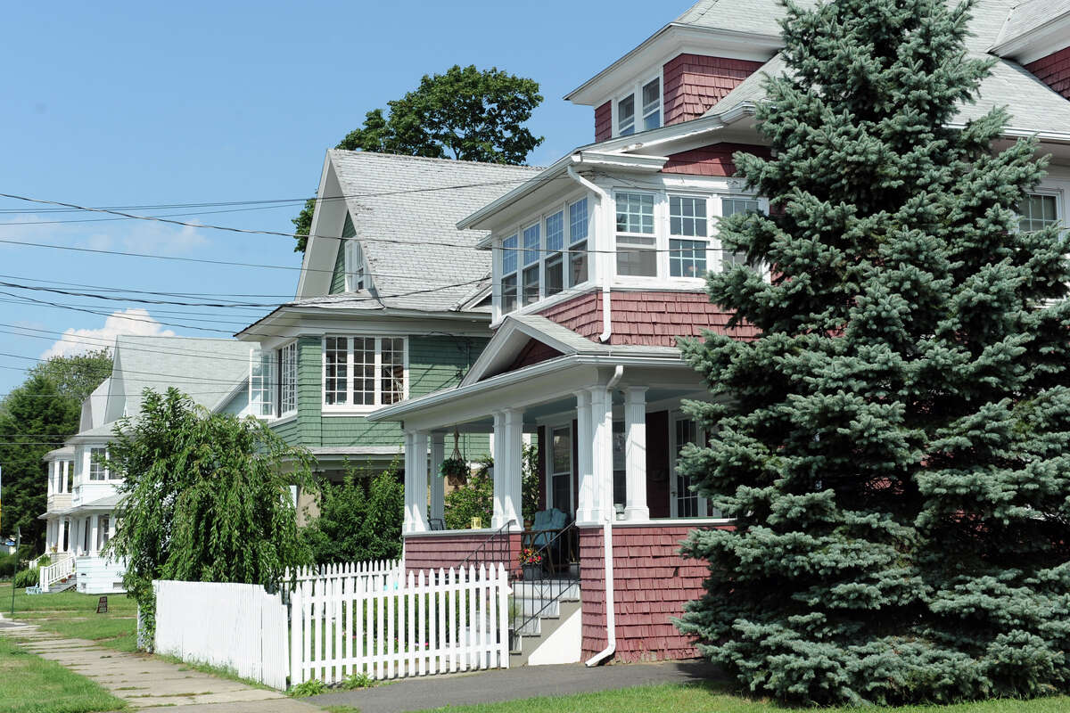 Homes on Midland Street, in the Black Rock section of Bridgeport, Conn., Aug. 28, 2013.