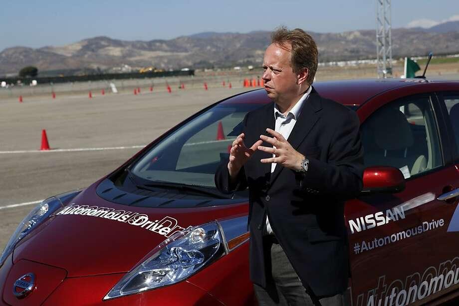 Andy Palmer, executive vice president at Nissan. Photo: Patrick T. Fallon, Bloomberg