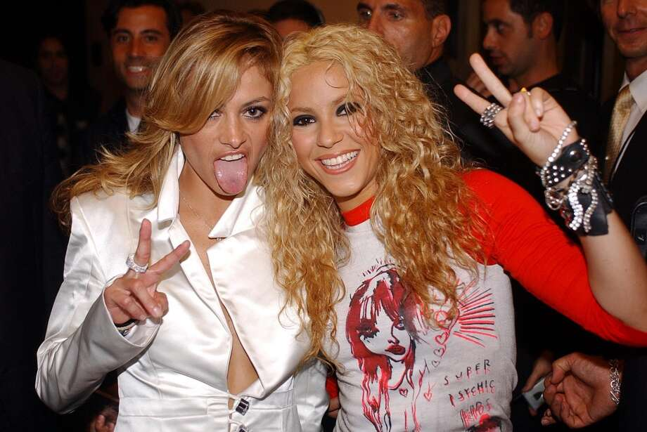 Paulina Rubio and Shakira Photo: Jeff Kravitz, FilmMagic