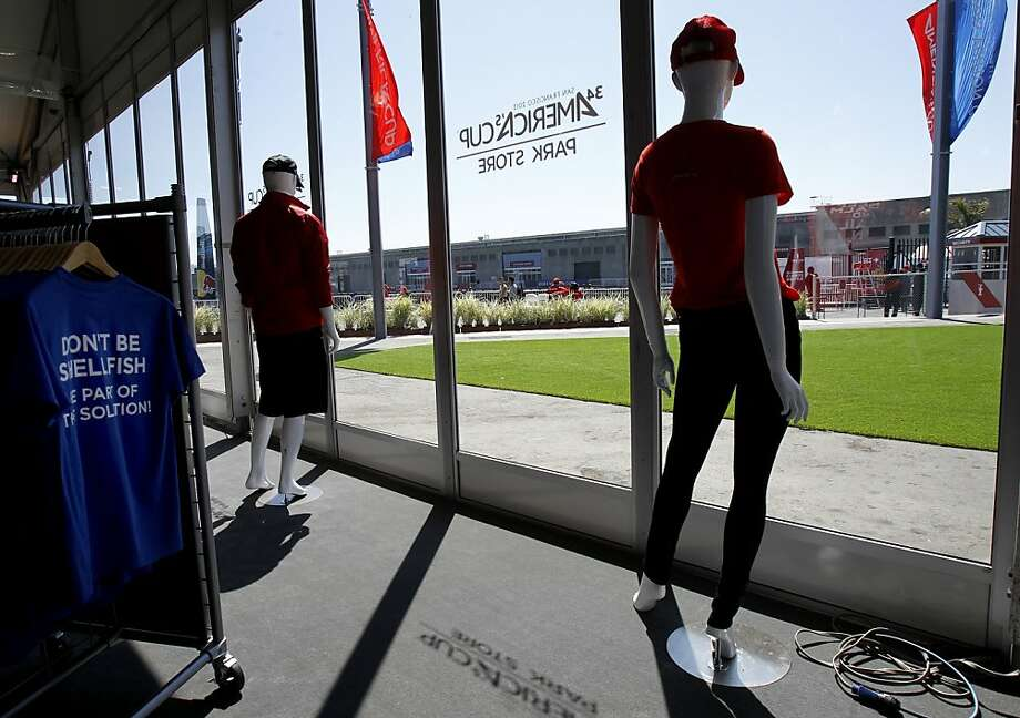 The America's Cup Park store sells the kind of merchandise at the center of a contract dispute by a company that claims it is owed $4.2 million. Photo: Brant Ward, The Chronicle