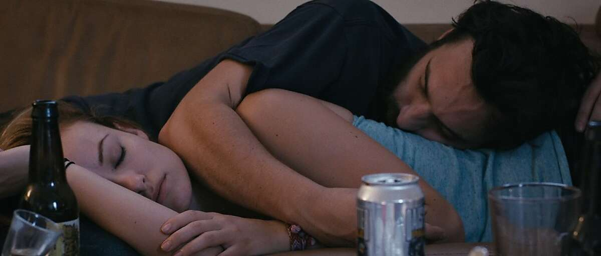Olivia Wilde and Jake Johnson in DRINKING BUDDIES, a Magnolia Pictures release.