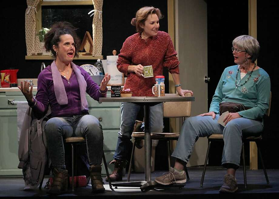 "Jean (Jamie Jones, left), Margaret (Amy Resnick, center) and Dottie (Anne Darragh) talk things over in ""Good People."" Photo: Ed Smith"