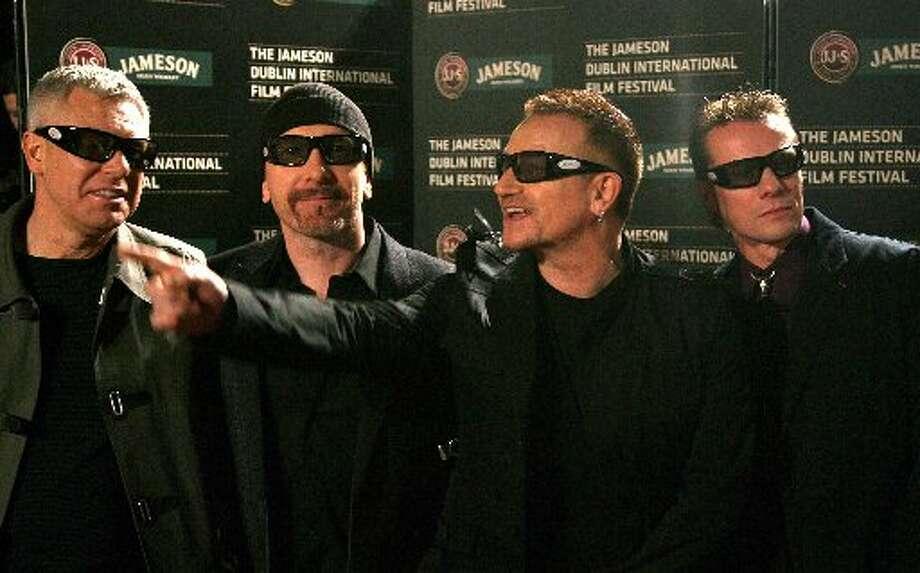 8. U2 3D (2008). $10,363,341. Photo: AP