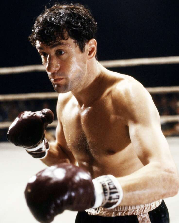 In `Raging Bull,' Robert De Niro played boxer Jake LaMotta at his fighting weight and in his older, out-of-shape days. De Niro gained 60 pounds to play LaMotta in his post-fighting days. Photo: Silver Screen Collection, Getty Images