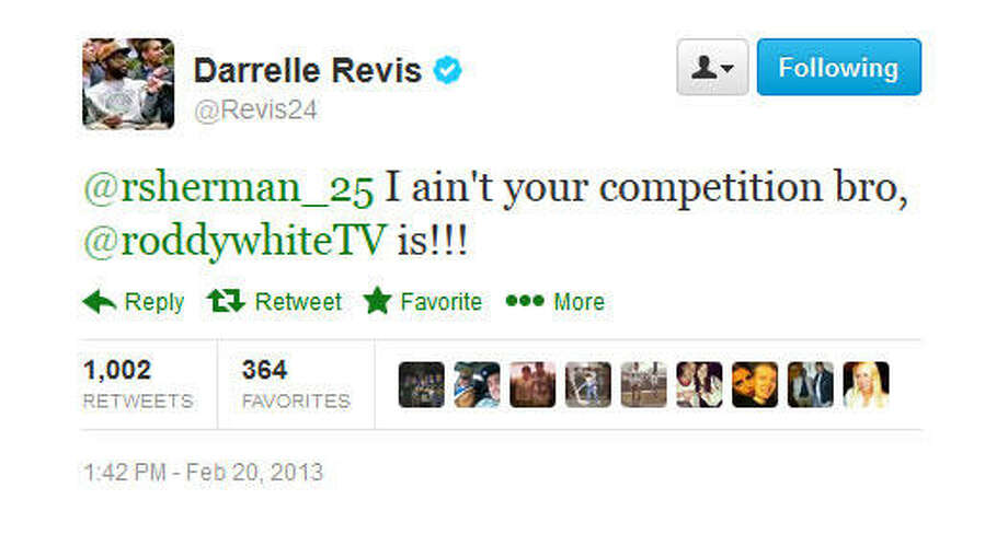 Revis keeps going.  Photo: Screenshot, Twitter