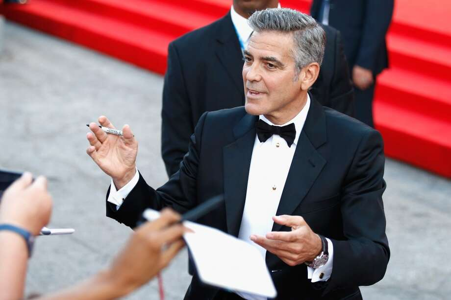 Actor George Clooney attends the Opening Ceremony And 'Gravity' Premiere during the 70th Venice International Film Festival at the Palazzo del Cinema on August 28, 2013 in Venice, Italy.  (Photo by Andreas Rentz/Getty Images) Photo: Andreas Rentz, Getty Images