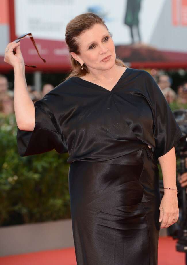 Jury member Carrie Fisher attends the Opening Ceremony And 'Gravity' Premiere during the 70th Venice International Film Festival at the Palazzo del Cinema on August 28, 2013 in Venice, Italy.  (Photo by Ian Gavan/Getty Images) Photo: Ian Gavan, Getty Images