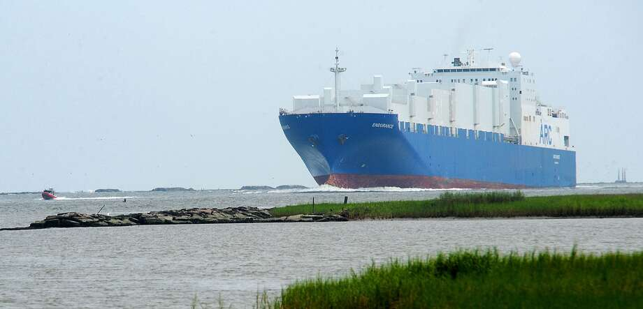 The Endurance powers its way though the Sabine-Neches Waterway in August of 2011.  Enterprise file photo by Guiseppe Barranco / Beaumont
