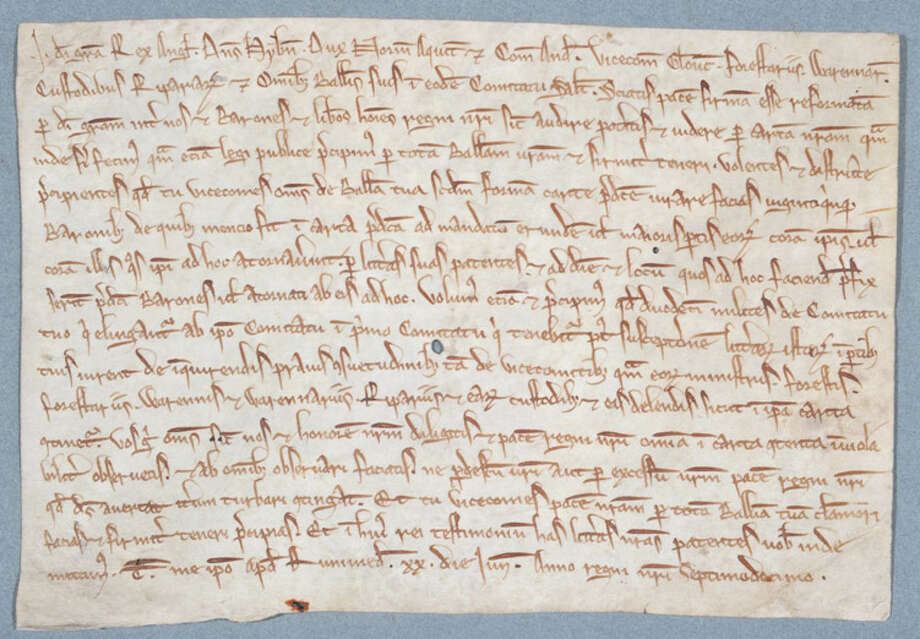 A rarely seen copies of the Magna Carta was issued in 1217. Photo: HONS / Hereford Cathedral
