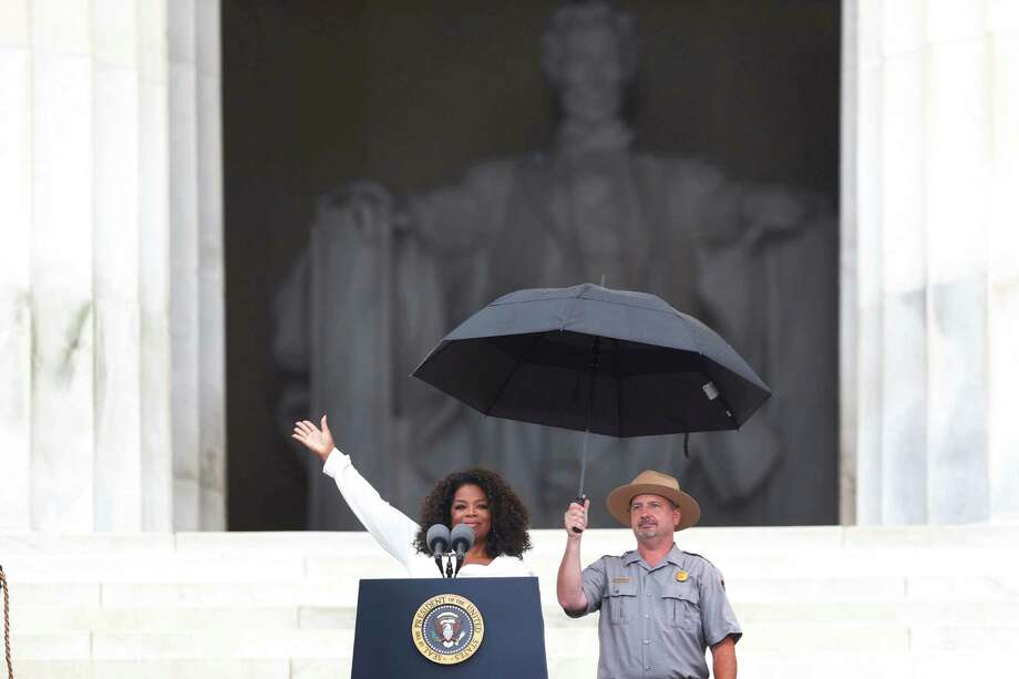 Oprah Winfrey speaks at the 50th Anniversary of the March on Washington where Martin Luther King, Jr. spoke, Wednesday, Aug. 28, 2013, at the Lincoln Memorial in Washington. Photo: Charles Dharapak, Associated Press / AP