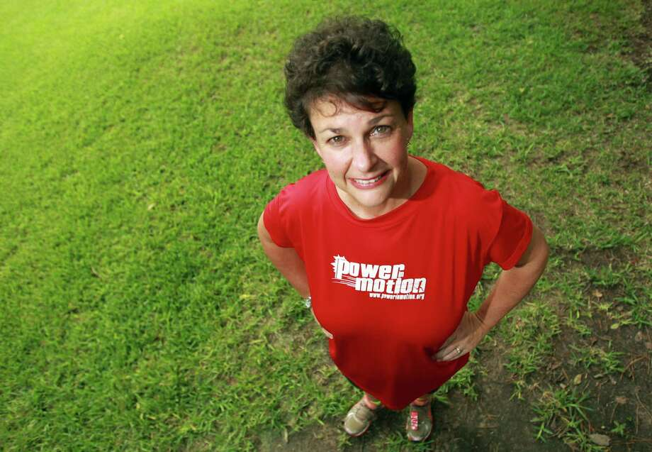 Christine Wardwell, joined Power in Motion, and lost nearly 50 pounds on Wednesday, Aug. 28, 2013, in Houston. ( Mayra Beltran / Houston Chronicle ) Photo: Mayra Beltran, Staff / © 2013 Houston Chronicle