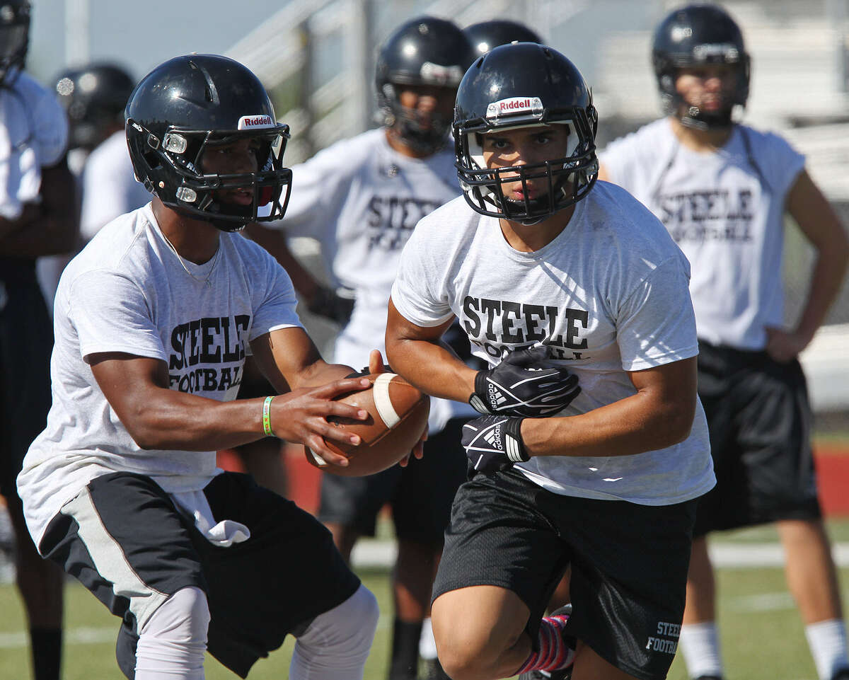 Steele's hopes center on talented running back Justin Stockton (right), who rushed for more than 2,000 yards in 2012.