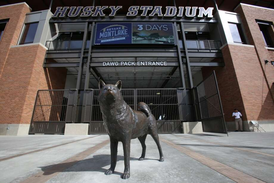 The entrance is shown to the newly renovated Husky Stadium at the University of Washington. The $250 million renovation of the stadium took almost two years to complete. Photographed on Wednesday, August 28, 2013. 2013. Photo: JOSHUA TRUJILLO, SEATTLEPI.COM