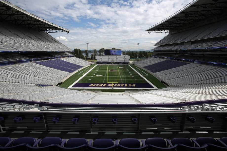 The view looking east is shown in the newly renovated Husky Stadium at the University of Washington. The $250 million renovation of the stadium took almost two years to complete. Photographed on Wednesday, August 28, 2013. 2013. Photo: JOSHUA TRUJILLO, SEATTLEPI.COM