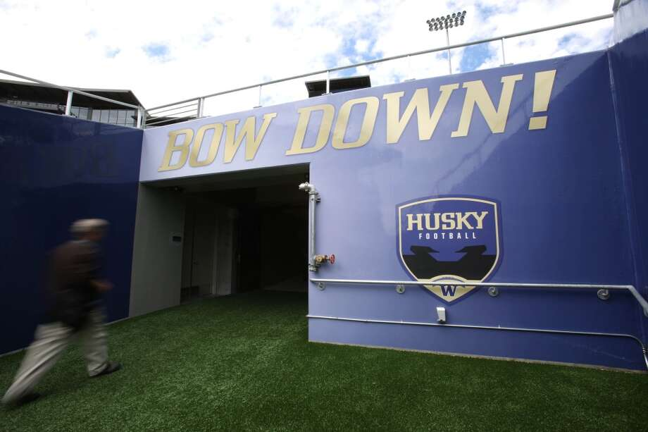 The famous tunnel where players enter and exit is shown at the newly renovated Husky Stadium at the University of Washington. The $250 million renovation of the stadium took almost two years to complete. Photographed on Wednesday, August 28, 2013. 2013. Photo: JOSHUA TRUJILLO, SEATTLEPI.COM