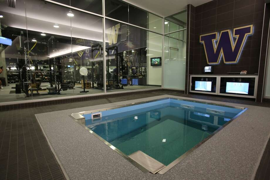 A pool is shown in the newly renovated Husky Stadium at the University of Washington. The $250 million renovation of the stadium took almost two years to complete. Photographed on Wednesday, August 28, 2013. 2013. Photo: JOSHUA TRUJILLO, SEATTLEPI.COM