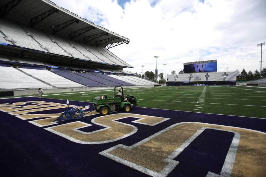 The field is shown at the newly renovated Husky Stadium at the University of Washington. The $250 million renovation of the stadium took almost two years to complete. Photographed on Wednesday, August 28, 2013. 2013. Photo: JOSHUA TRUJILLO, SEATTLEPI.COM
